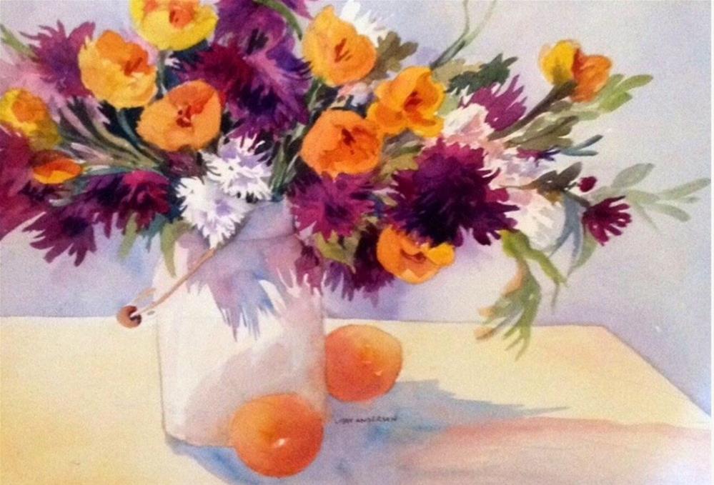 """Oranges"" original fine art by Libby Anderson"