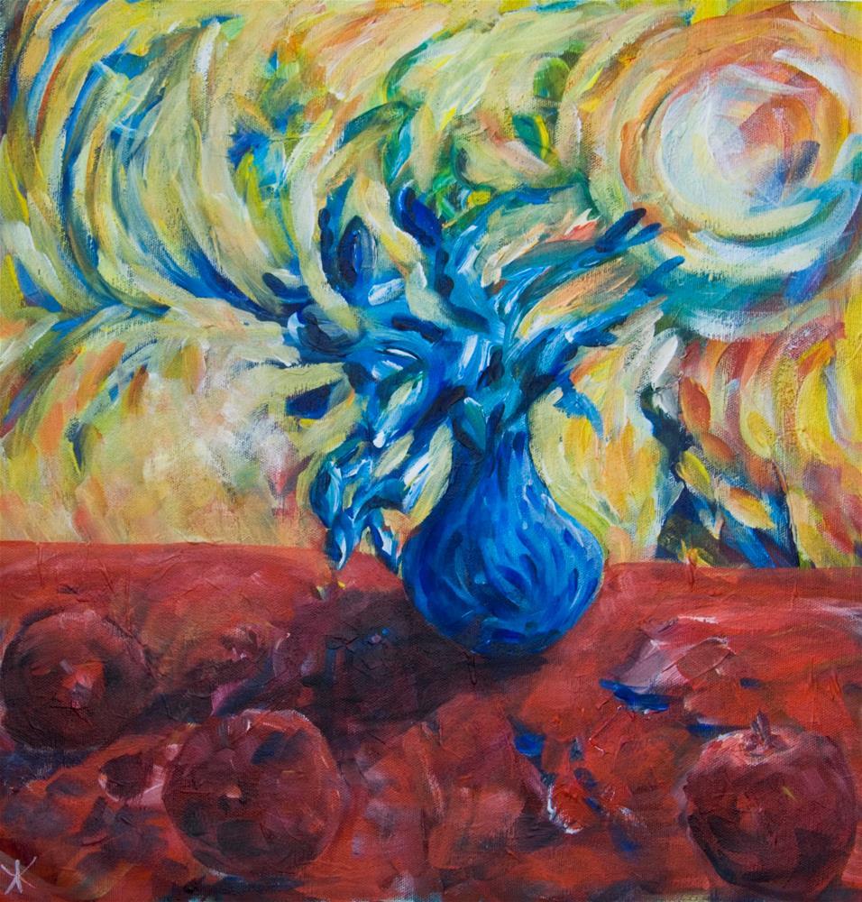 """Wild Flower"" original fine art by Yulia Kazansky"