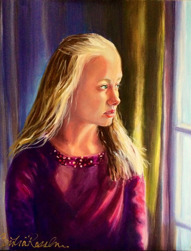 """PORTRAIT PAINTING"" original fine art by Cecilia Rosslee"