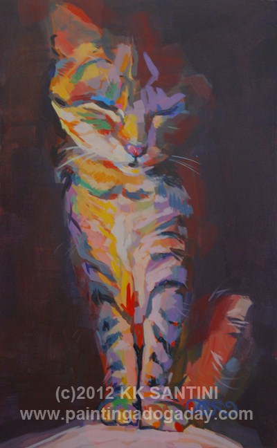 """Cleo, Double Take"" original fine art by Kimberly Santini"