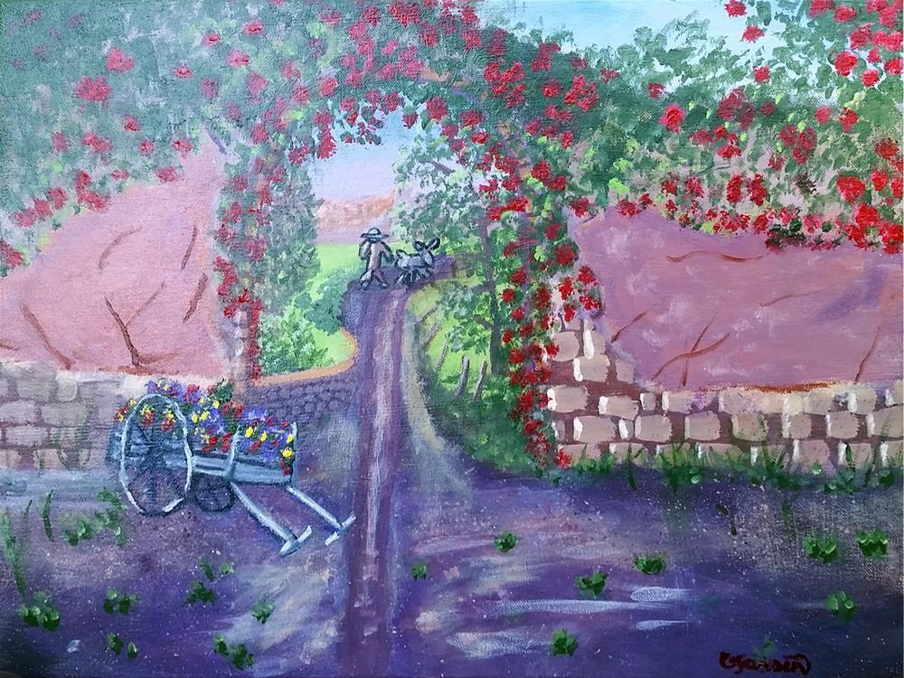 """A window to Mexico"" original fine art by Cindy Jensen"