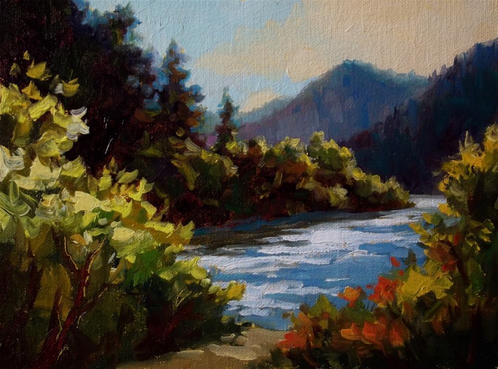 """""""Umpqua River"""" original fine art by Erin Dertner"""