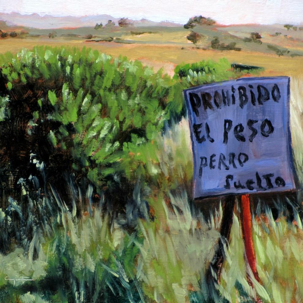 """""""El aviso"""" original fine art by Eduardo Carpintero"""