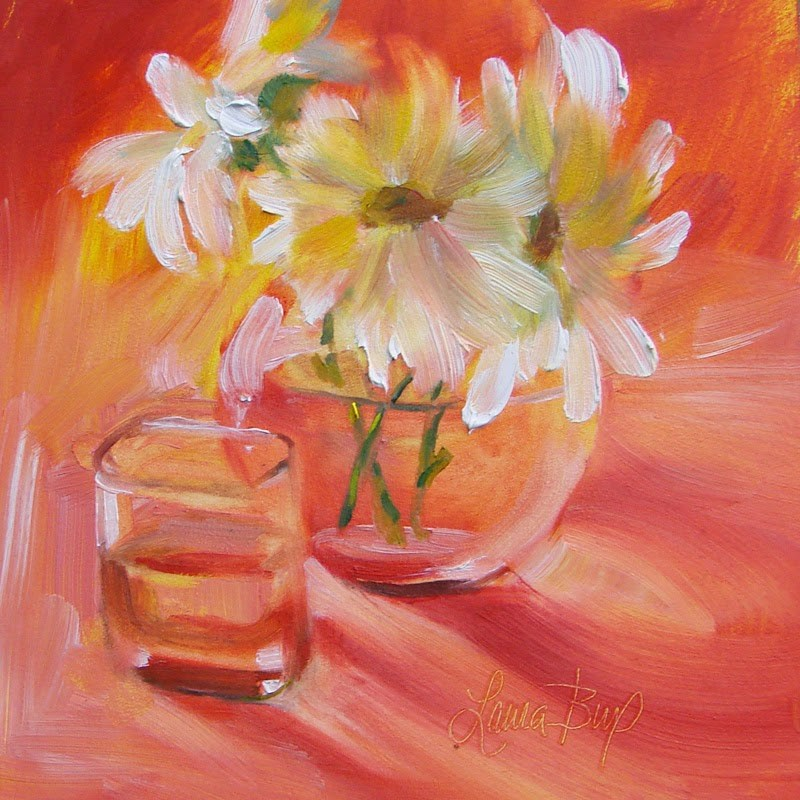 """Orange"" original fine art by Laura  Buxo"