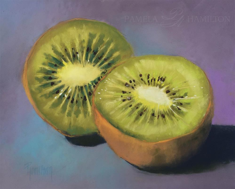 """Kiwi Halves"" original fine art by Pamela Hamilton"