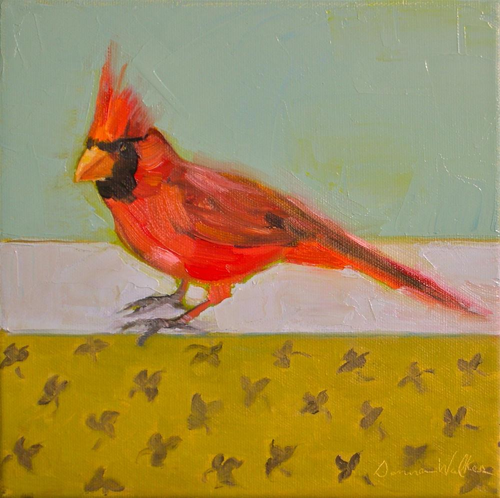 """""""Cardinal II"""" original fine art by Donna Walker"""