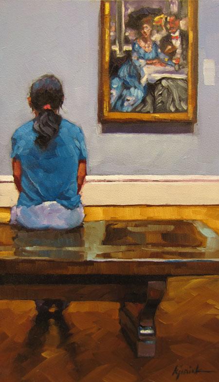 """Child Rearing"" original fine art by Karin Jurick"