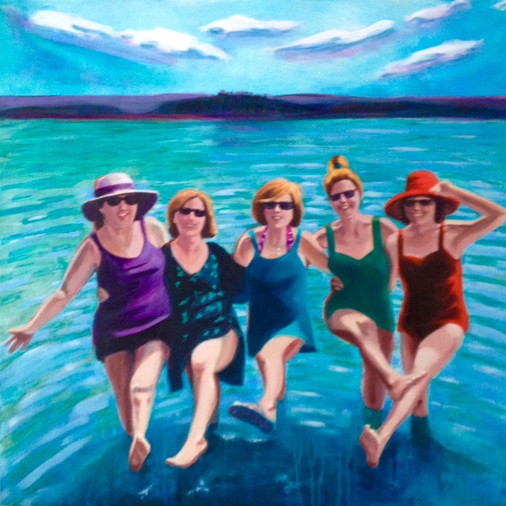 """Beachside Can-Can"" original fine art by Bev Thibault"