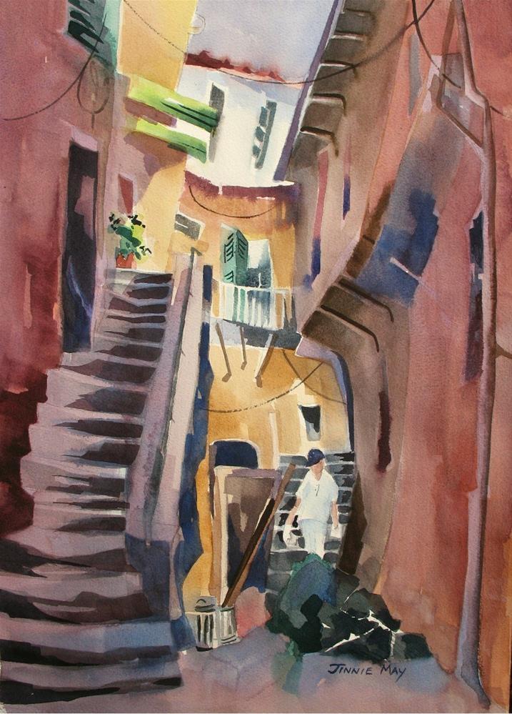 """Behind Chez Elegance"" original fine art by Jinnie May"