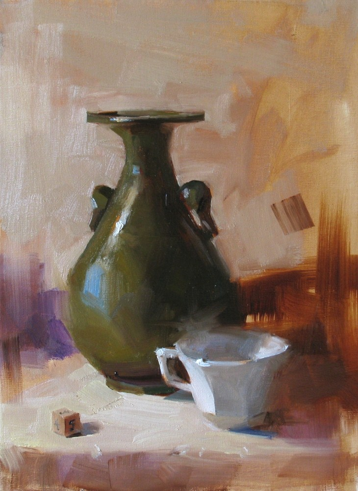 """Demo at home 2012 1"" original fine art by Qiang Huang"