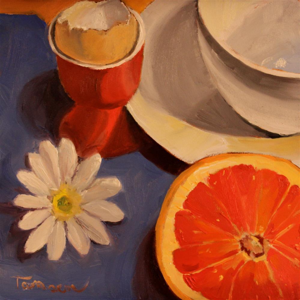 """White Daisy Rising"" original fine art by Tamsen Armstrong"