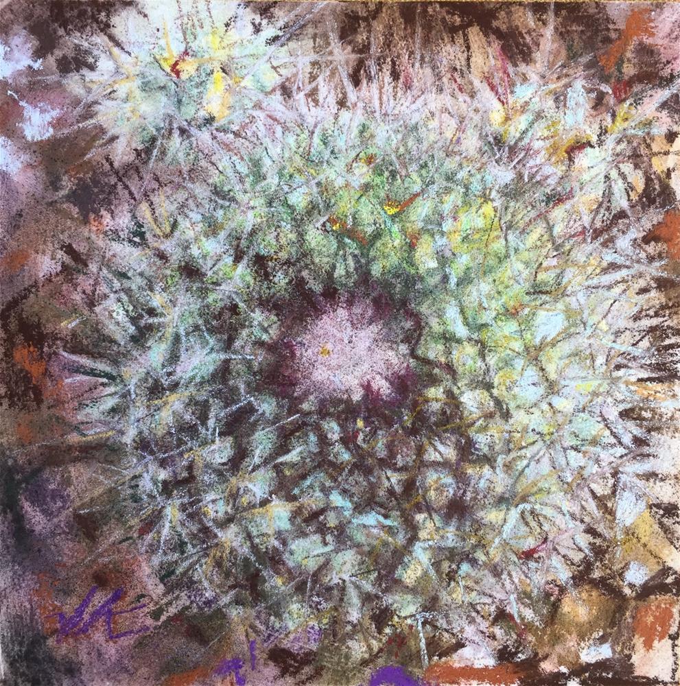 """Perfect Cactus"" original fine art by Jean Krueger"