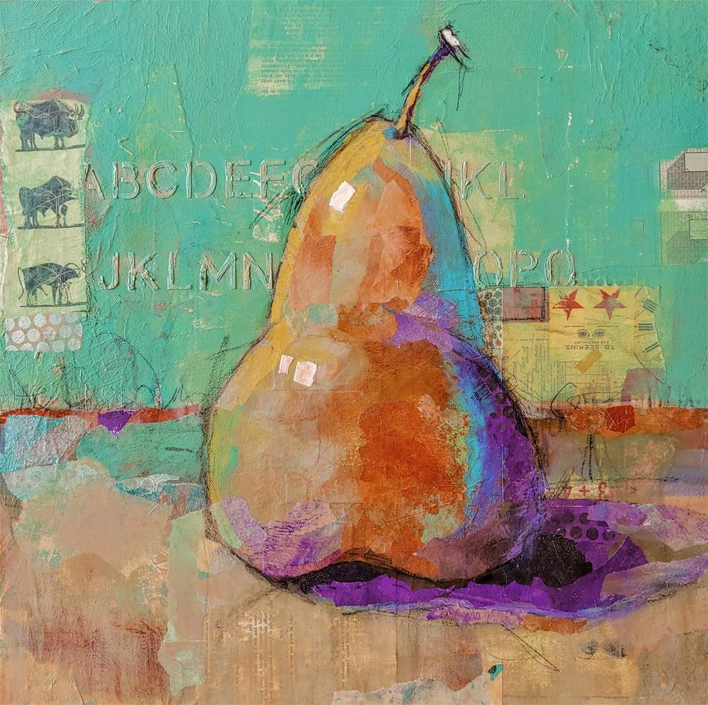 """""""Picasso's Pear"""" original fine art by Cindy Haase"""