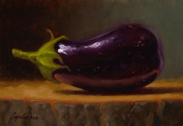 """Baby Eggplant"" original fine art by David Capalungan"