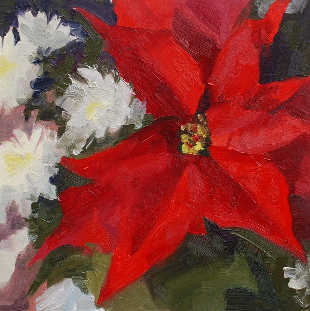 """Return of the Poinsettia #3 - The Mumsettia"" original fine art by Susan McManamen"