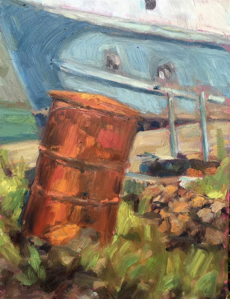 """""""The Rusty Bin"""" original fine art by Allison Doke"""