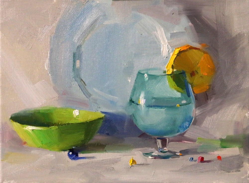 """Demo at Springfield 3 --- Sold"" original fine art by Qiang Huang"