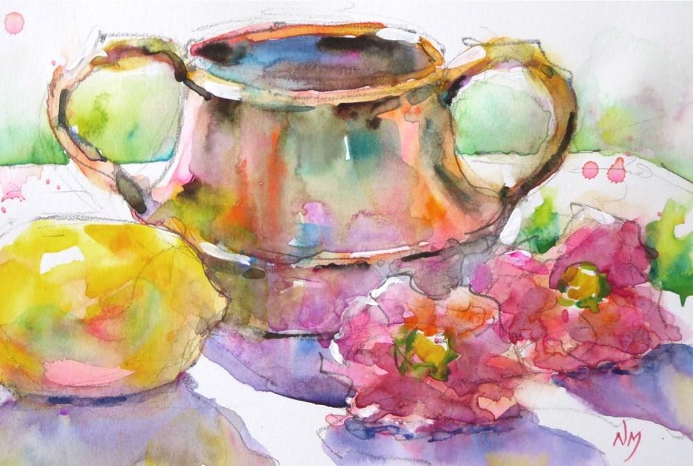 """tickled pink"" original fine art by Nora MacPhail"
