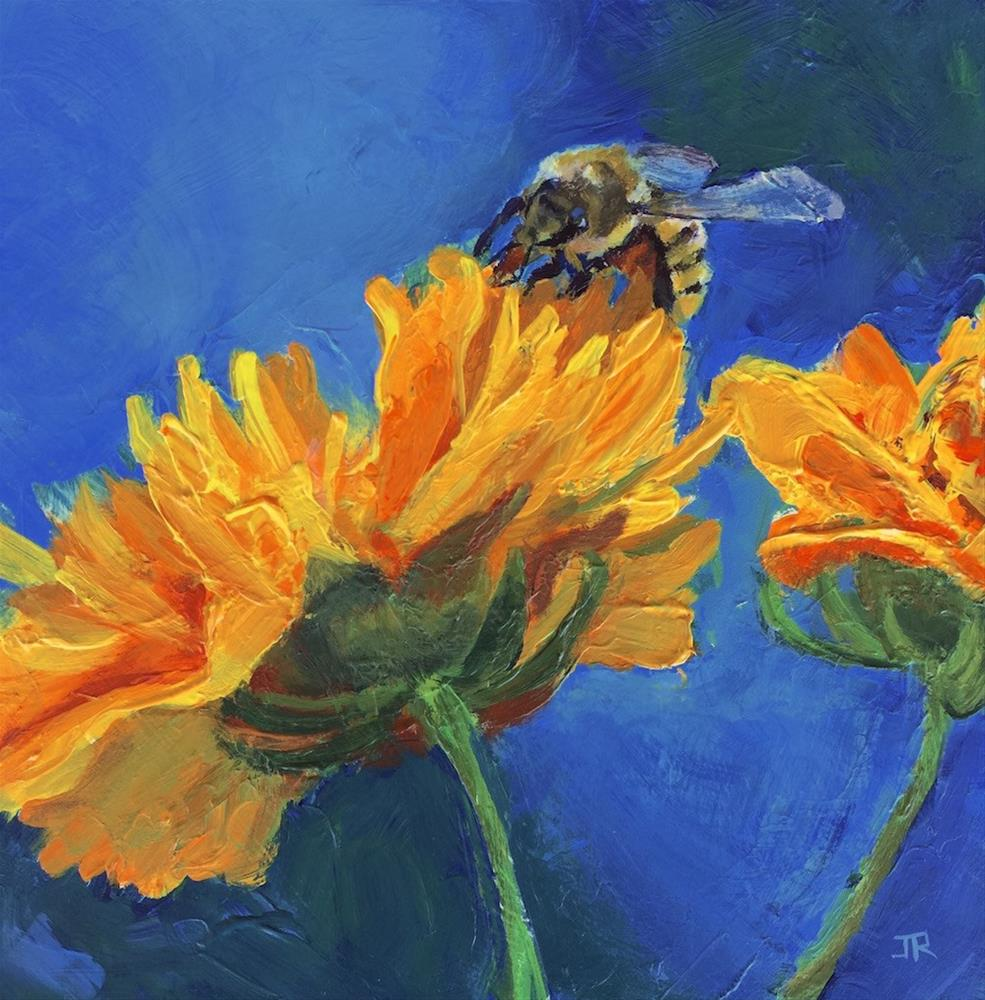 """""""Going For The Gold"""" original fine art by June Rollins"""