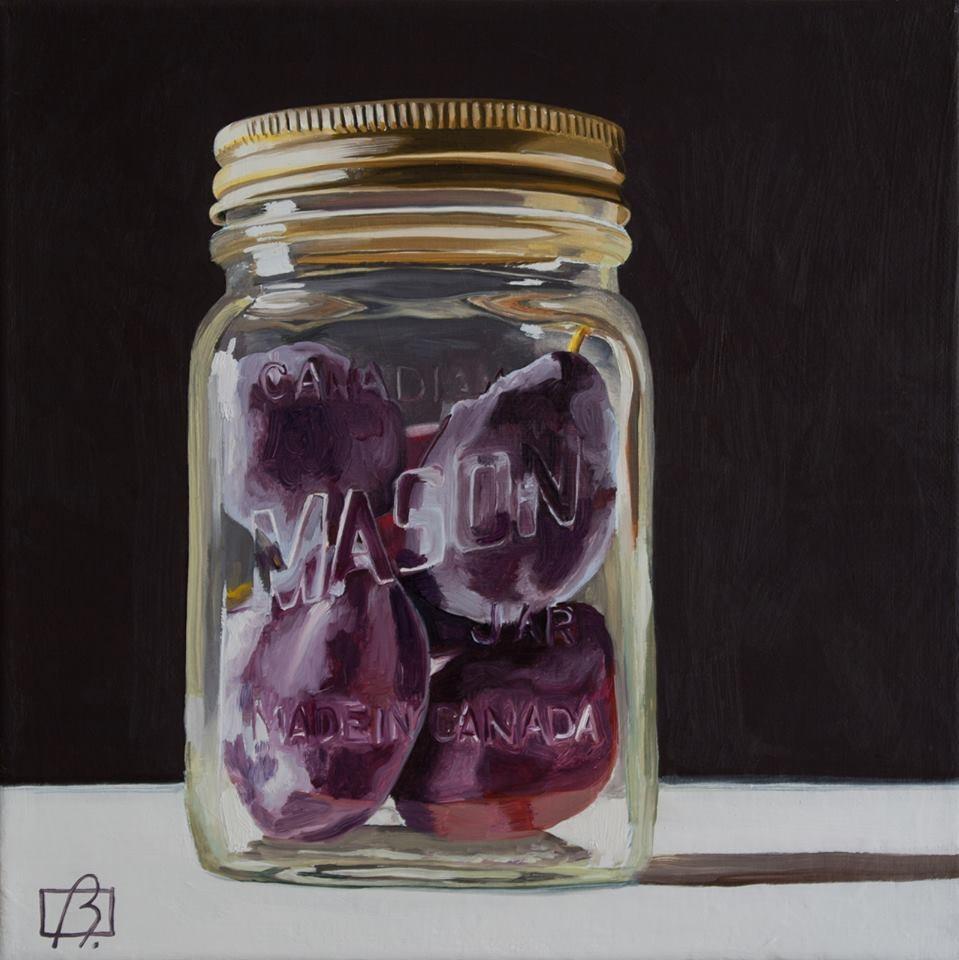 """Canadian Mason Jar"" original fine art by Andre Beaulieu"