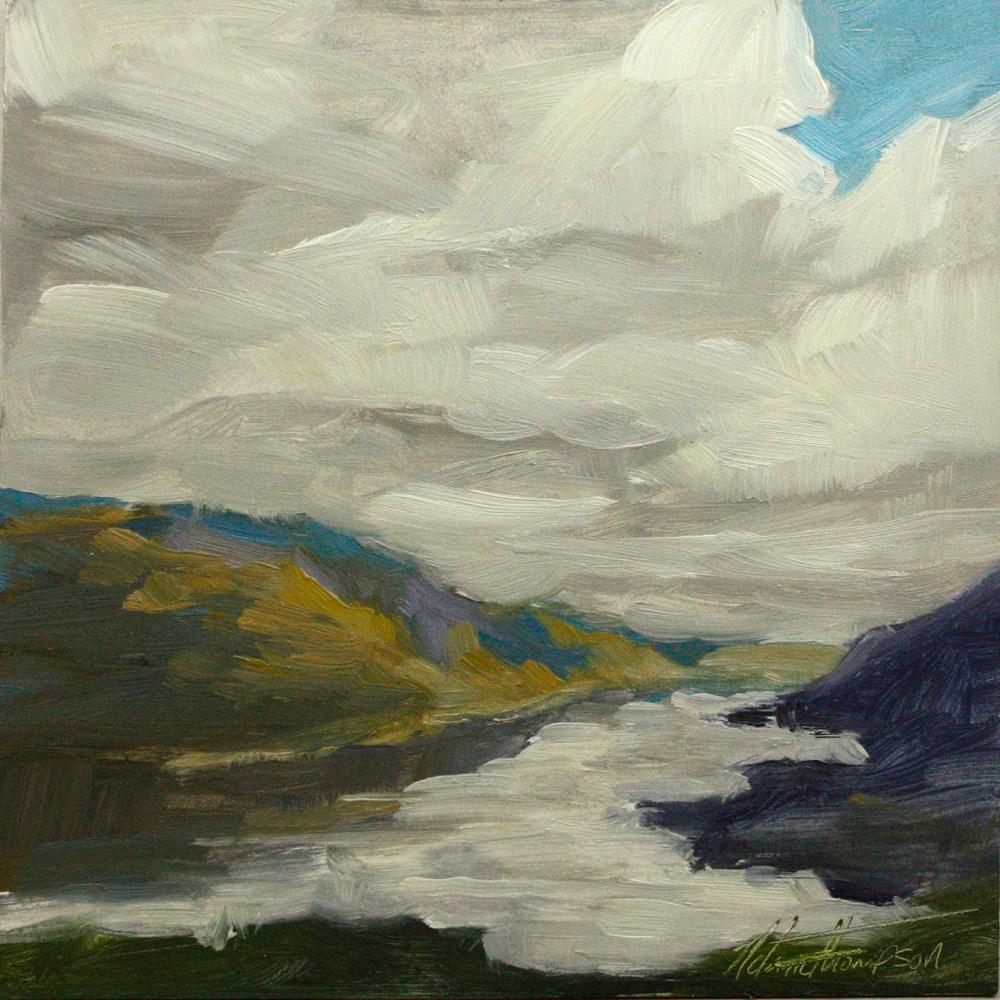 """Down the Gorge IV"" original fine art by Melanie Thompson"