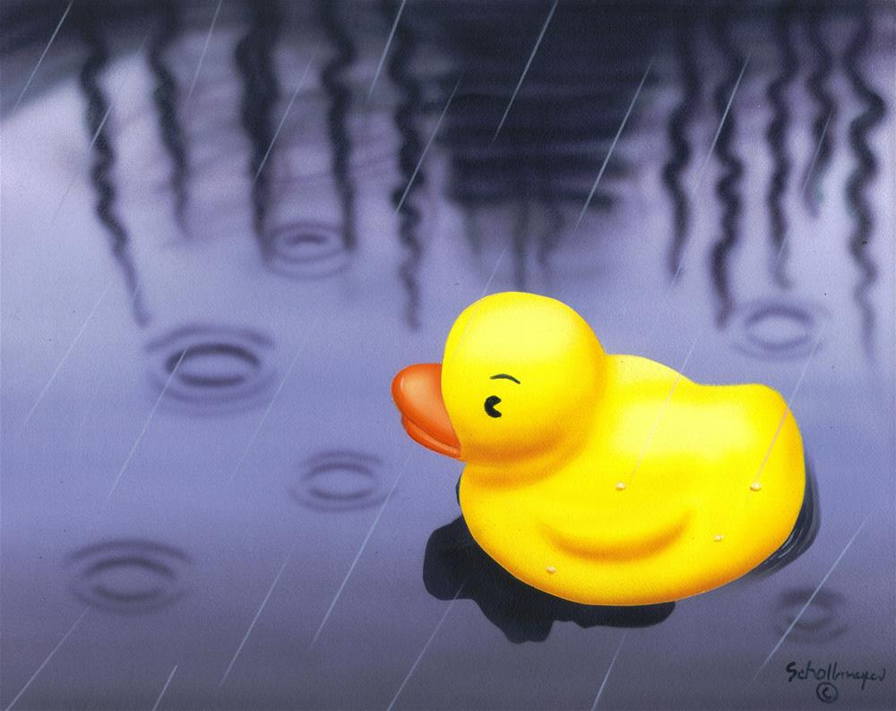 """""""Isn't This Just Ducky"""" original fine art by Fred Schollmeyer"""