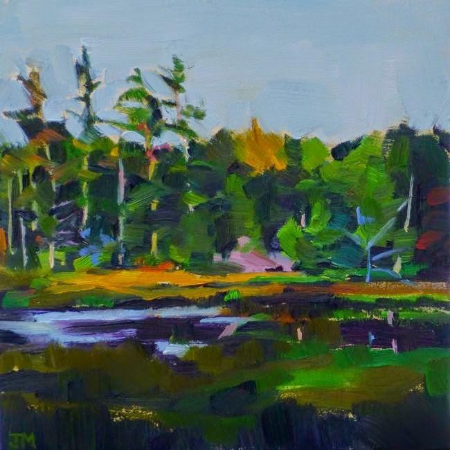 """""""Northern Swamp"""" original fine art by Jessica Miller"""