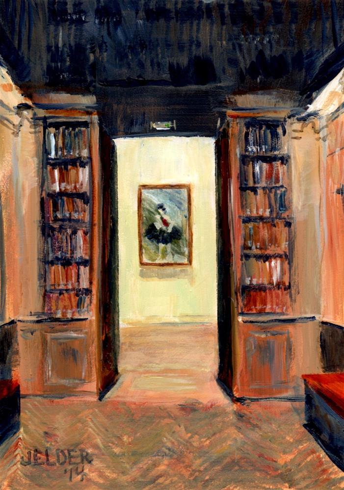 """Paris No. 29, Opera House Library"" original fine art by Judith Elder"