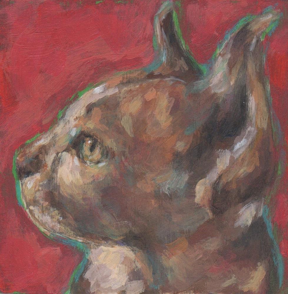 """Cat Profile"" original fine art by Kathy Hiserman"