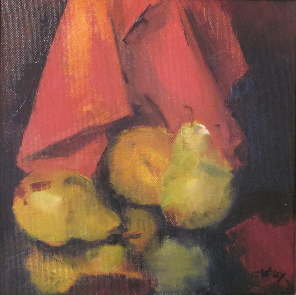 """""""Pear  Reflection"""" original fine art by Carol Wiley"""