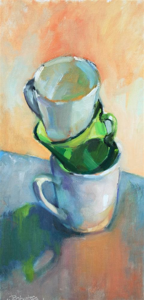 """Stacked"" original fine art by Jane Robertson"