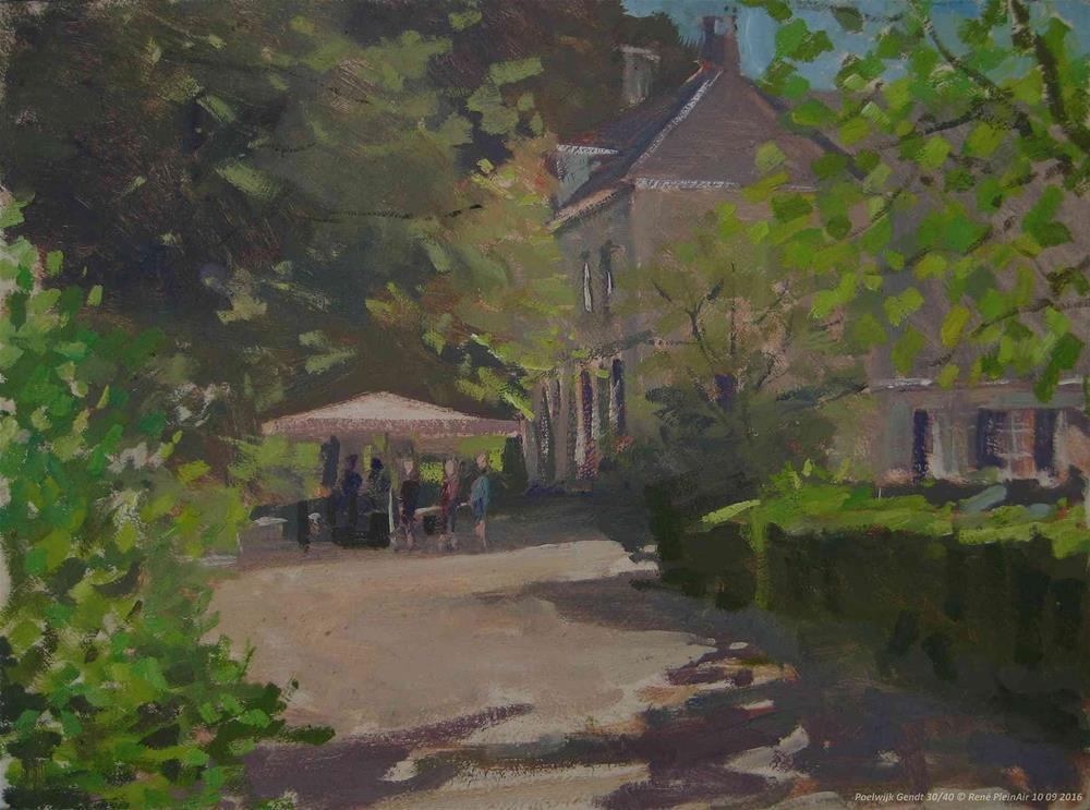 """""""Landgoed Poelwijk. Gendt, The Netherlands"""" original fine art by René PleinAir"""