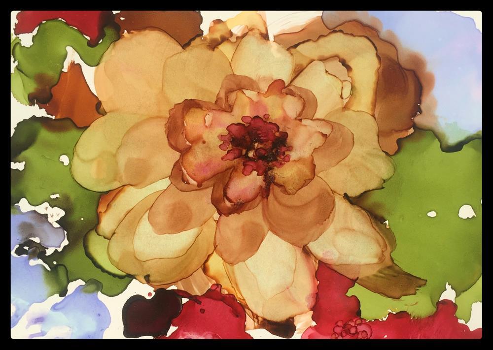"""Beige Blossom"" original fine art by Kelly Alge"