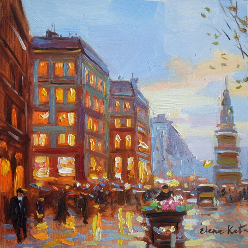 """Paris Lights"" original fine art by Elena Katsyura"