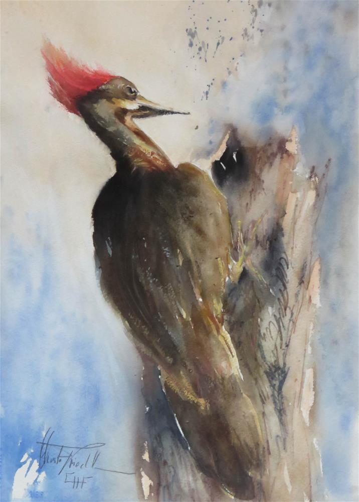 """Woody"" original fine art by Christa Friedl"