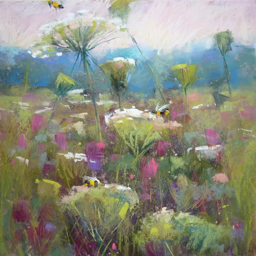 """""""IAPS 2015.....How to Paint Wildflowers in the Landscape demo preview"""" original fine art by Karen Margulis"""