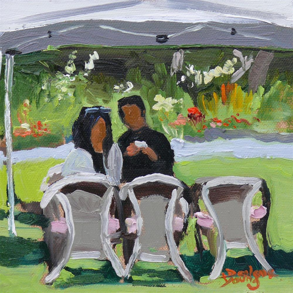 """Two for Tea"" original fine art by Darlene Young"