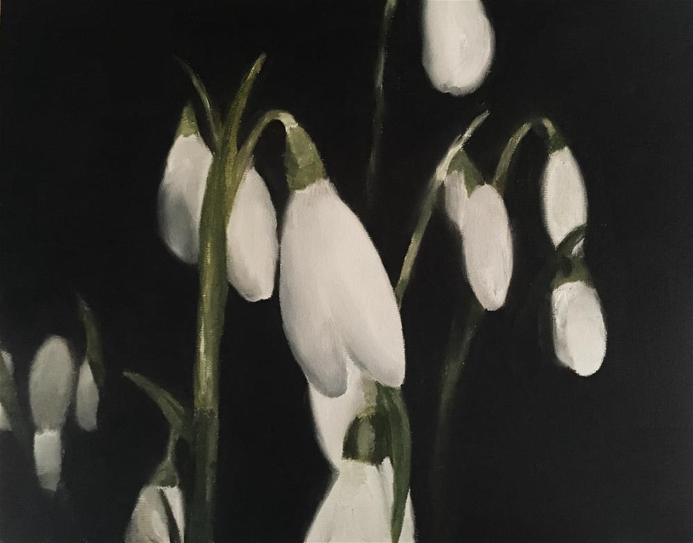 """Snowdrops"" original fine art by James Coates"