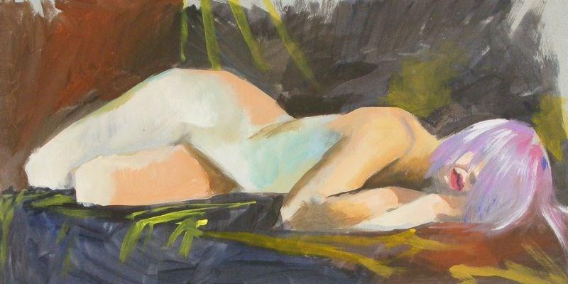 """nude"" original fine art by Peter Orrock"