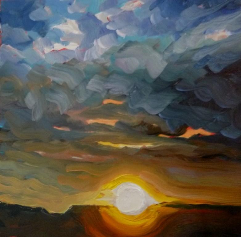 """""""68 LAST LIGHT, ALGODONES"""" original fine art by Dee Sanchez"""