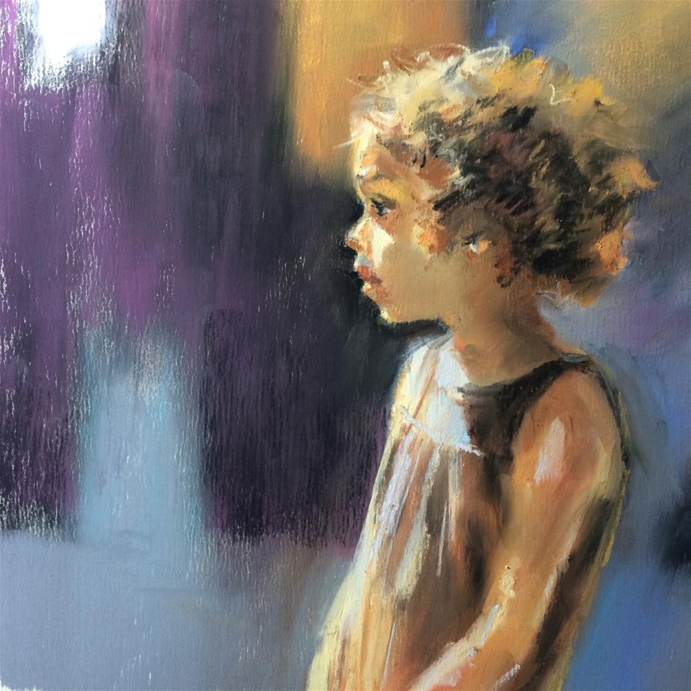 """""""Cutie"""" original fine art by Anny Kong"""
