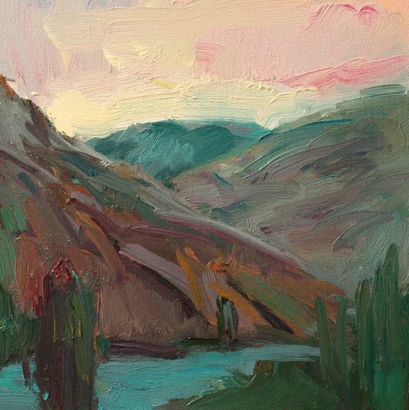 """""""Patterson Lake"""" original fine art by Kathryn Townsend"""