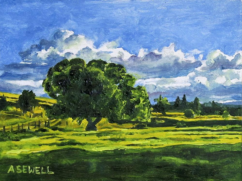 """Tree in my pasture"" original fine art by Andy Sewell"
