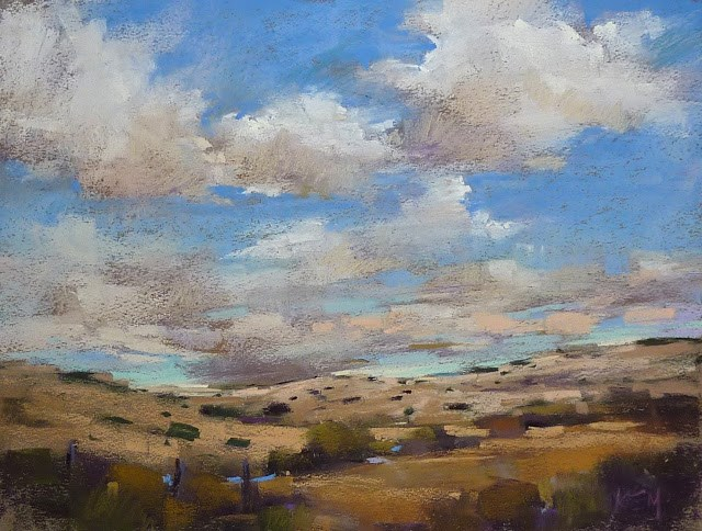 """Mini Pastel Demo: Southwest Skies"" original fine art by Karen Margulis"
