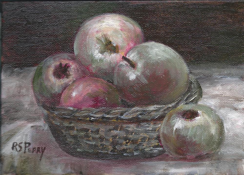 """""""Sally's Apples"""" original fine art by R. S. Perry"""