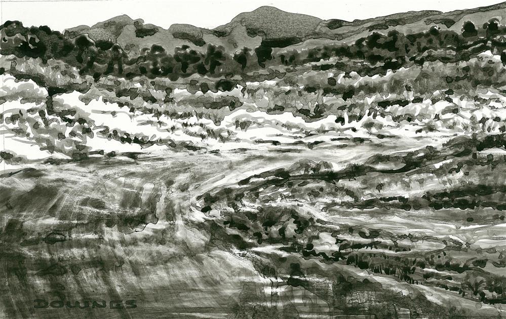 """247 EN PLEIN AIR SKETCH 6"" original fine art by Trevor Downes"
