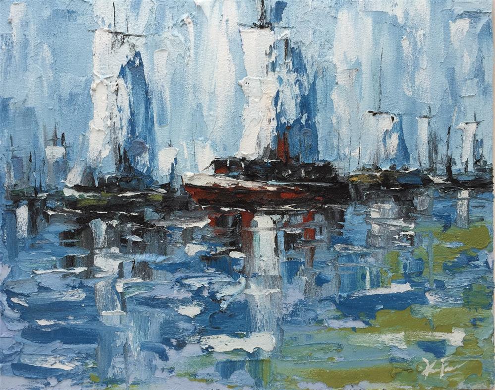 """Harbor Light"" original fine art by Ken Fraser"