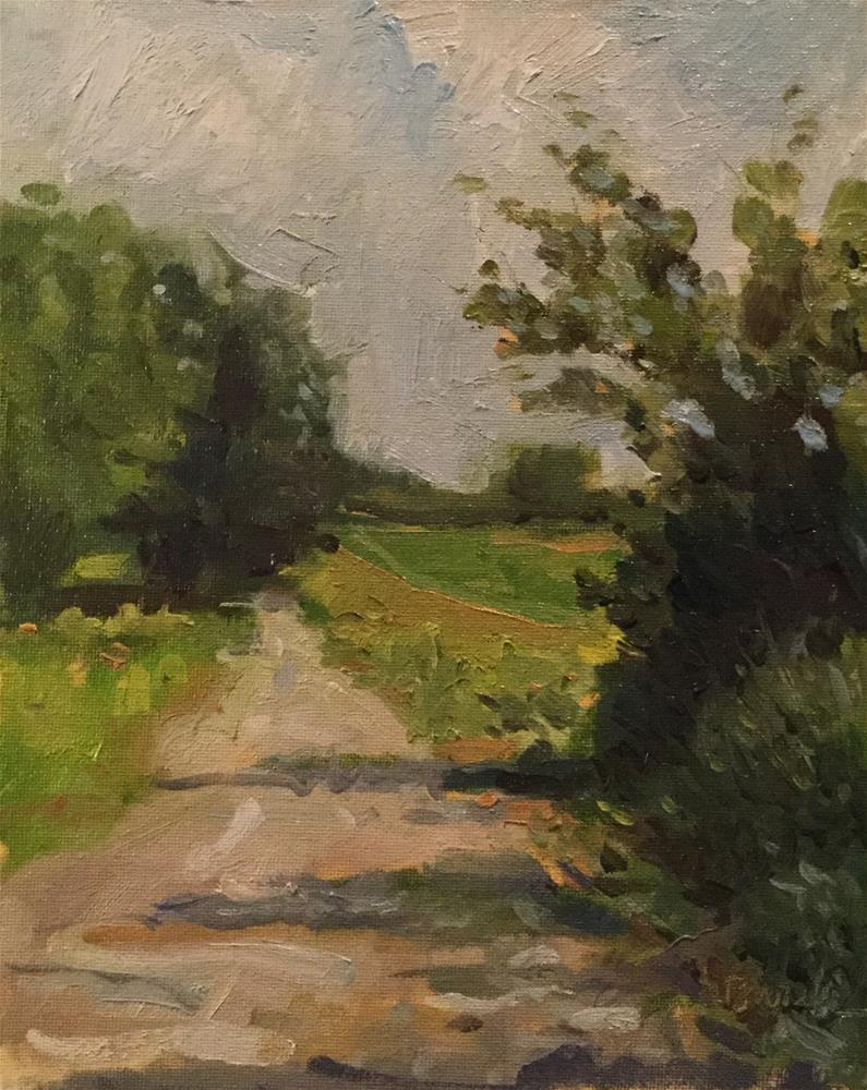 """Quiet Way Home"" original fine art by Barb Walker"