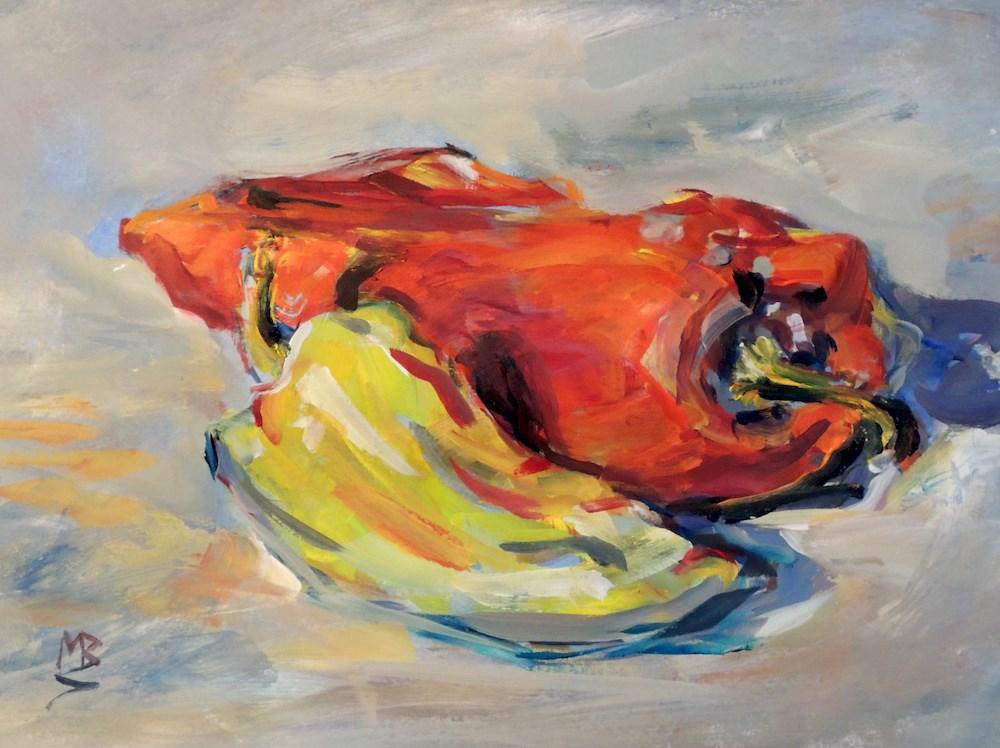 """A Hot Pair"" original fine art by Mary Schiros"