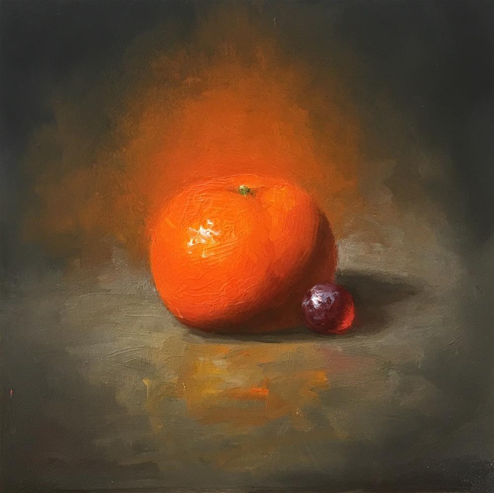 """Mandarin. Oil on board."" original fine art by Yana Golikova"